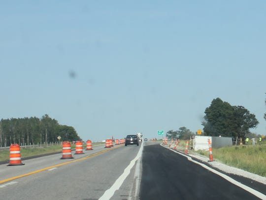 These eastbound lanes of Interstate 80 near the Ladora-Millersburg