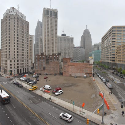 The Monroe block, bordered by Randolph (bottom left),