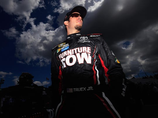 Martin Truex Jr., who drives the No. 78 Furniture Row Toyota, was in town to promote next weekend's Pure Michigan 400 at Michigan International Speedway. While in Michigan, he always finds time to go fishing.