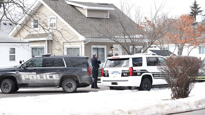 A quiet residential street became a horrific crime scene Friday with news that four people — a couple and their adult children — died in what police are describing as a triple murder-suicide.