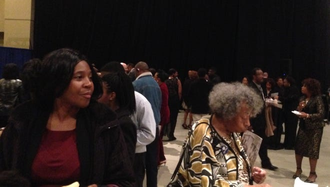 """Patrons gather at the """"Evening to Remember"""" ceremony at the Renaissance Hotel Friday, Dec. 4."""