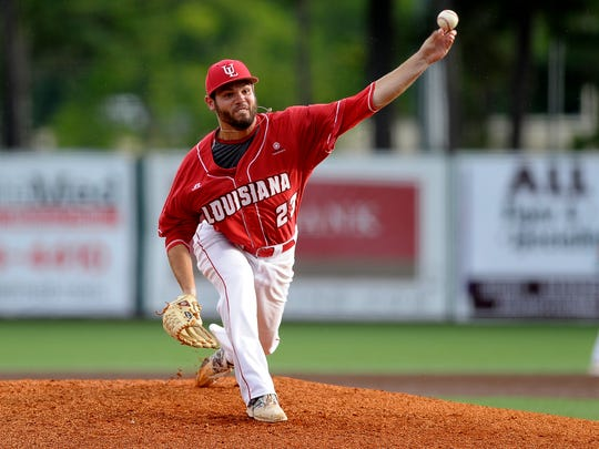 UL outfielder Ryan Wilson (23) went 6.2 solid innings for the Cajuns as a starter in the win.