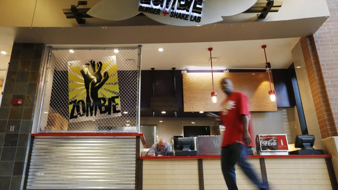 Mall zombies will have a new place to feast when the new Zombie Burger location in the Jordan Creek Town Center food court opens in West Des Moines.