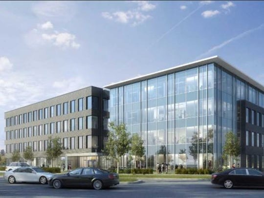 A rendering of the Virginia Springs I office building that Highwoods Properties plans for a Brentwood site with Vaco as the anchor tenant.