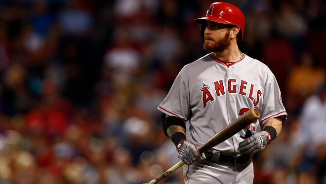 Josh Hamilton has been working out in Houston, away from the Angels.