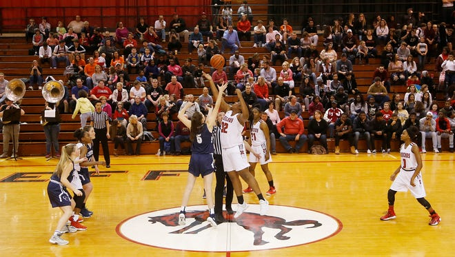Lafayette Jeff and Central Catholic tip off Tuesday, January 23, 2018, at Lafayette Jeff. Jeff defeated CC 73-62.