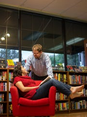 Thom and Patty Hotka thought the neighborhood Beaverdale Books was a perfect spot to highlight their engagement with photographs.