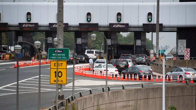 The backup at the local toll lanes to the George Washington Bridge in Fort Lee  on Sept. 12, 2013.