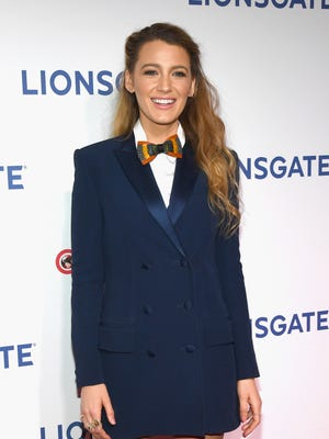 """All the biggest names turn up at CinemaCon, the annual Las Vegas convention of theater owners, to tout their blockbusters-in-waiting.. Blake Lively attends  the Lionsgate presentation to promote her film """"A Simple Favor."""""""