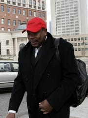 Wayne Charles leaves Federal Court in White Plains March 26, 2008. ( Frank Becerra Jr. / The Journal News )