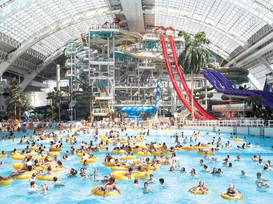 An artist rendering of the waterpark at American Dream
