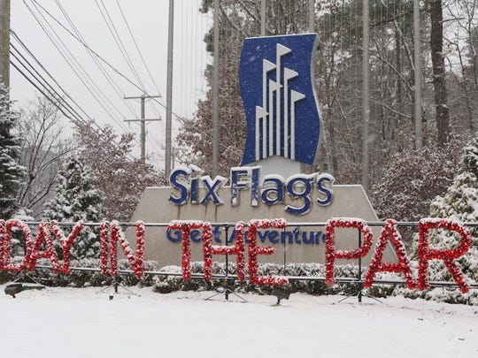 A snowstorm Saturday, Dec. 9, 2017, forced the closure