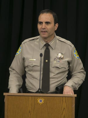 Sheriff Paul Penzone speaks about the budget cuts to his office on May 4, 2017 at the Maricopa County Sheriff's Office Headquarters in Phoenix, Ariz.