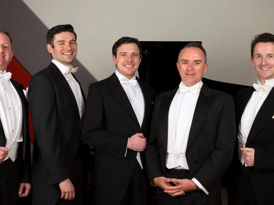 The Five Irish Tenors will perform this season at the Spencer.