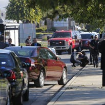 Salinas police respond Thursday to the scene of a mass shooting at 928 Blanco Circle in Salinas.