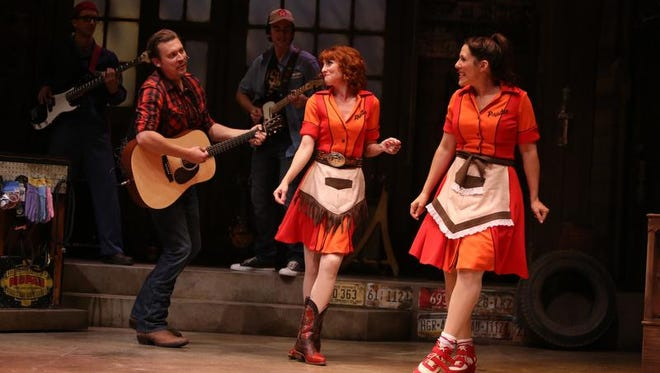 Johnny Kinnaird, Erin Maguire and Farah Alvin star in Pump Boys and Dinettes at Geva Theatre Center.