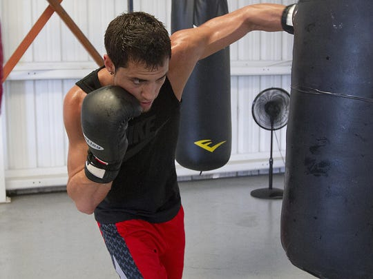 Bryant Perrella, of Lehigh Acres, trains in South Fort