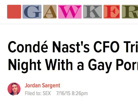 Screenshot of Gawker's article on the Conde Nast CFO
