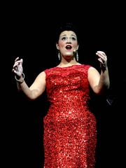 Brittany Lewis performs a tribute to Adele in Pocomoke