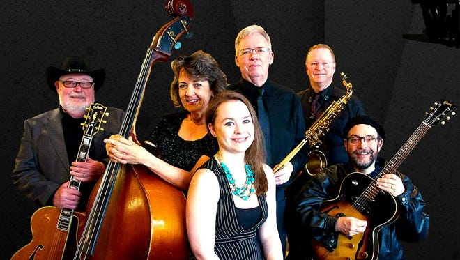 Members of Gail Gage Jazz include George Head, from left, Gail Gage, Carolyn Gage, Steve Craig, Kevin Gage and Steve Prager. The band will perform with Salem Pops Orchestra at 7 p.m. April 2 at the Historic Grand Theatre.
