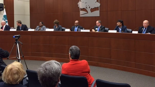 Eight candidates - four Republicans and four Democrats - appeared at the forum.
