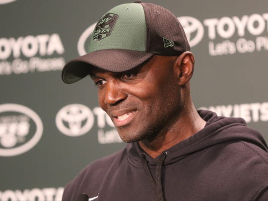 Jets Head Coach, Todd Bowles, speaks to the press after practice at Florham Park, Wednesday, June 13, 2018.