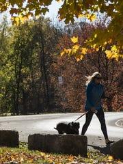 Taking a walk in Cherokee Park.