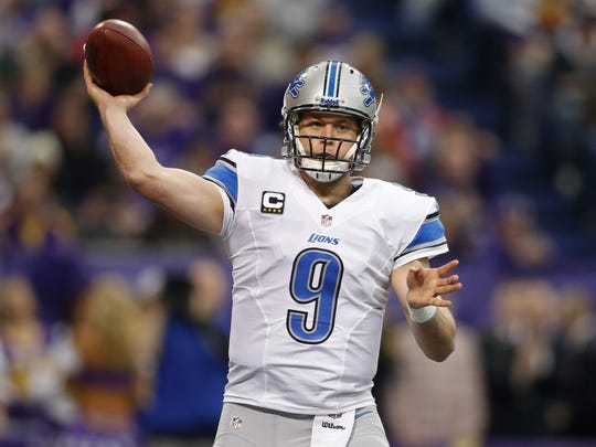 Lions quarterback Matthew Stafford will be without several key players on offense against the Eagles on Sunday.