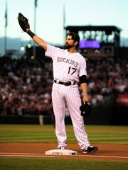 Colorado Rockies first baseman Todd Helton (17)