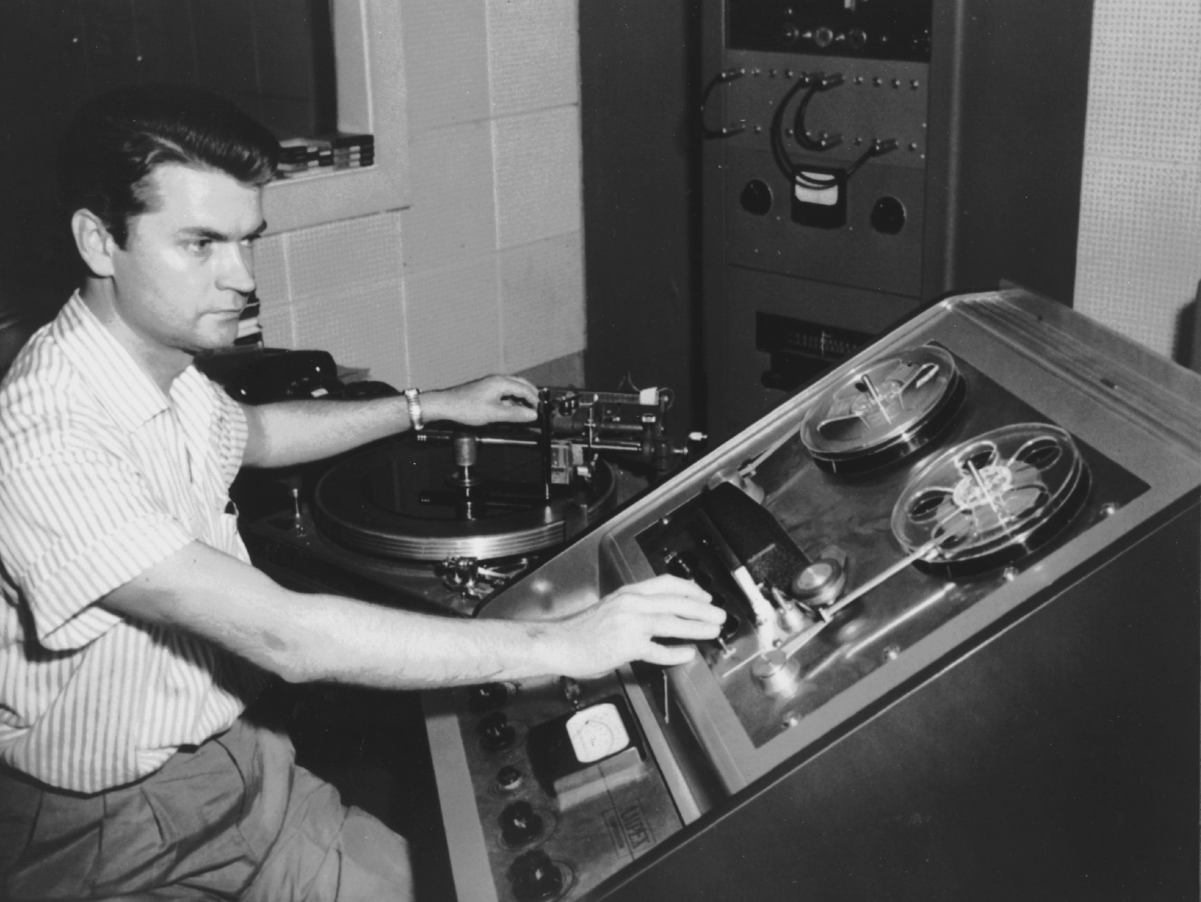 Sam Phillips at Sun Studio in an undated photograph.