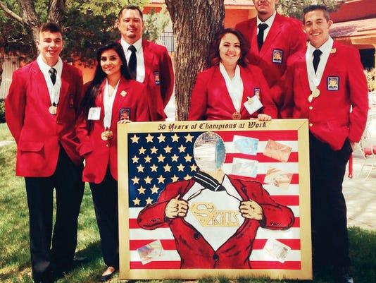 Cobre High School students who placed at the SKILLS USA event held on April 8 in Albuquerque include, from left, Gary Garcia Jr., Kaiyesha Udero, Advisor Gary Garcia, Gabrielle Nunez, Dexter Trujillo, and Chon Villalobos. Courtesy Photo