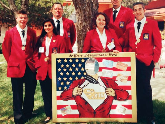 Cobre High School students who placed at the SKILLS USA event held on April 8 in Albuquerque include, from left, Gary Garcia Jr., Kaiyesha Udero, Advisor Gary Garcia, Gabrielle Nunez, Dexter Trujillo, and Chon Villalobos. Courtesy Photo