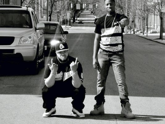 Denzel Thompson, left, and Joey Mator make up the hip hop, pop and R&B duo Co-Star. This York group has played several local gigs, including Valencia Ballroom and New Grounds Roasting Company.