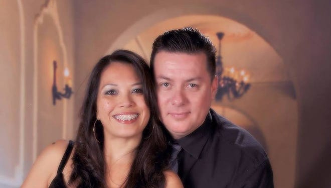 Darlene Garcia and her husband, Frank, who died two years ago.