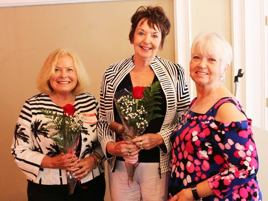 From left, Dolores Burton, Dianne Wetjen and Jacky