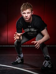 Brody Teske stands for a portrait at the Team Valley Wrestling Club Wednesday, April 12, 2017.