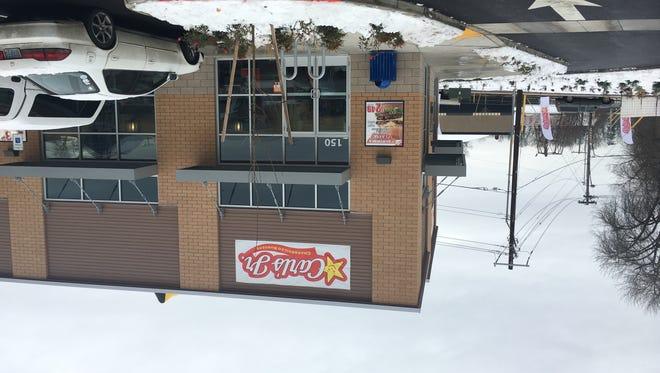 Carl's Jr. opened in West Salem Dec. 16, 2016, despite snow.