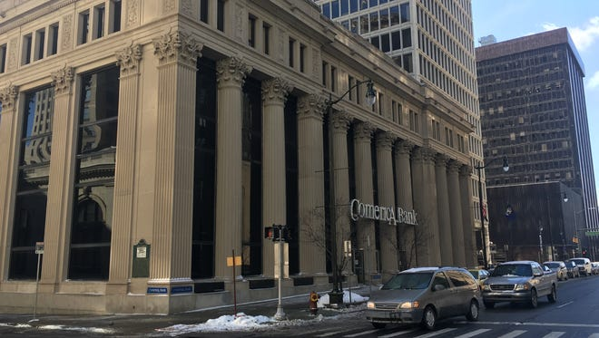 The Comerica branch building at 201 W. Fort St., in Detroit, MI, has been sold to an unknown buyer, Monday, Feb. 5, 2018.