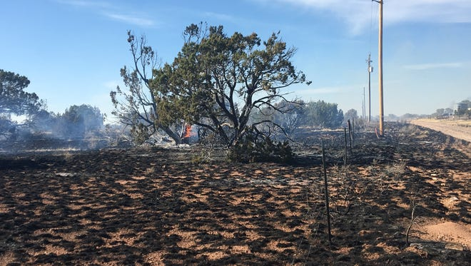 The Indian Meadow Fire led to evacuations 34 miles north of Williams on April 23, 2018.