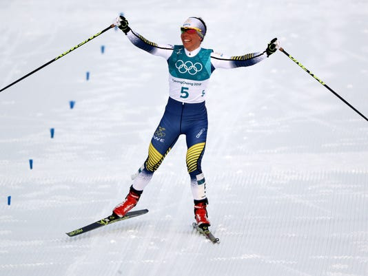 USP OLYMPICS: CROSS COUNTRY SKIING-WOMENS 2 X 7.5K S OLY KOR