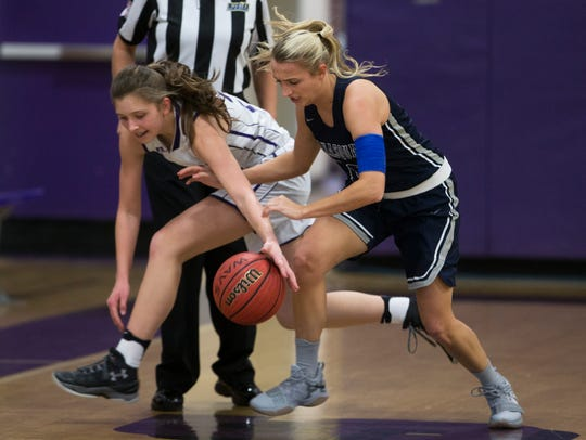Manasquan's Dara Mabrey tries to steal from Rumson's