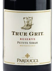 True Grit sources grapes from Mendocino County, California.