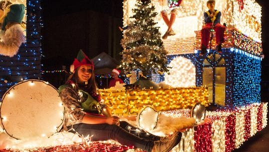 Over 50 floats participated in last year's APS Phoenix Electric Light Parade.