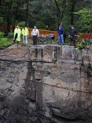 Stearns County officials wait along the side of Quarry