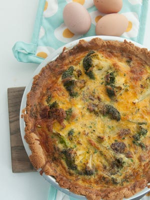 Eggs are naturally gluten-free and make a delicious meal as quiche, provided the crust is gluten-free as well.