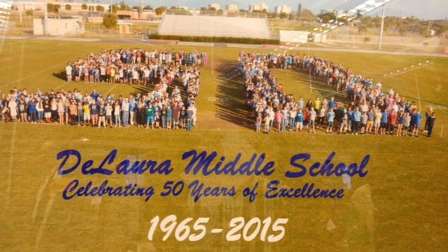 DeLaura Middle School recentlycelebrated 50 years.