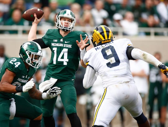 Brian Lewerke emerged at Michigan State's best quarterback