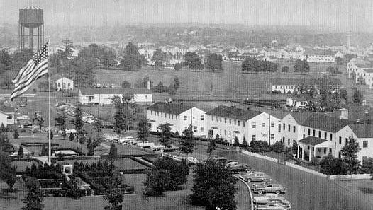 Camp Kilmer headquarters building.