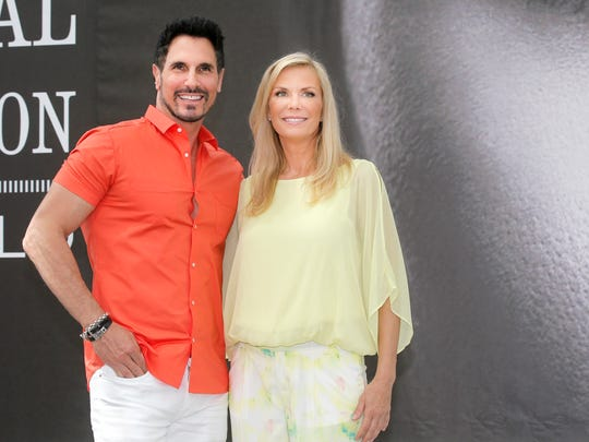 "Actors Don Diamont and Katherine Kelly Lang of TV series ""The Bold and the Beautiful"" pose for photographers during the 2013 Monte Carlo Television Festival, June 10 , 2013, in Monaco."