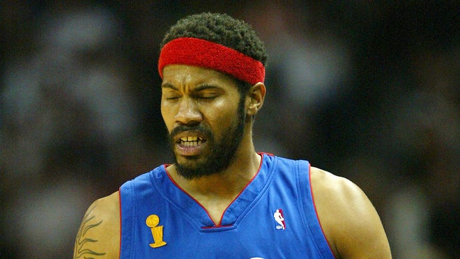 Rasheed Wallace played a key role in the Pistons reaching consecutive NBA Finals in 2004 and 2005.